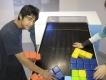 Im Museum: Ein überdimensionales Tetris-Spiel als interaktives Kunstobjekt