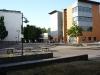 Schulhof zwischen Erweiterungsgebäude und dem Westgebäude
