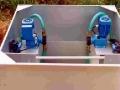 Im Frühjahr 2004 wurden in einer speziell konstruierten Box die beiden Pumpen befestigt.