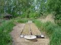 Am 10. Mai 2004 sind zweijährige Schilfpflanzen in das Kiesbett gepflanzt worden.