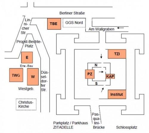 Gymnasium Zitadelle Lageplan